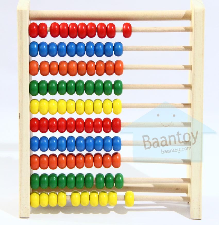 ของเล่นไม้ ลูกคิด 10 แถว สอนนับเลข