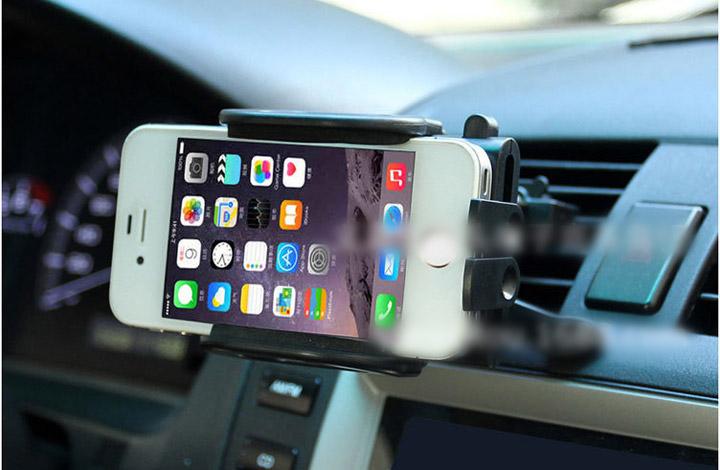 ที่วางโทรศัพท์มือถือ  จับยึดมือถือในรถยนต์       ติดตั้งโดยมีตะขอสอดเกี่ยวในช่องแอร์รถยนต์