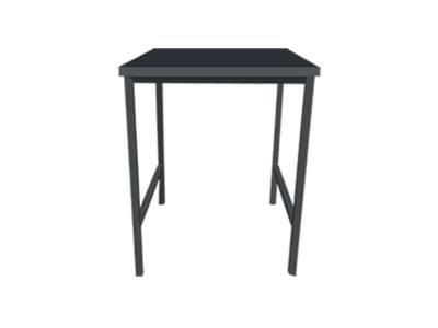 โต๊ะไม้จริง 2 ที่นั่ง ขาเหล็กสีดำ สำหรับร้านอาหาร ร้านชาบู ร้านสเต๊ก