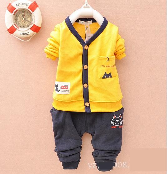SE002 ชุดสีเหลือง ผ้าสำลี (กันหนาว)