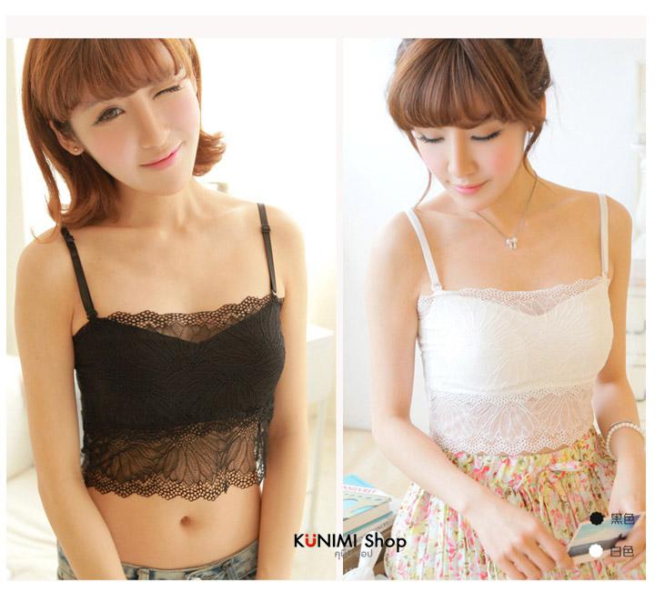 เสื้อกล้ามสายเดี่ยวซับใน ผ้าลูกไม้ครึ่งตัว ทั้งด้านหน้าและด้านหลัง สายเสื้อปรับขนาดได้ มีผ้าซับในอีกชั้นครึ่งตัว ผ้ายืดใส่สบาย สวย เซ็กซี่มากคะ จะใส่เดี่ยวๆ หรือ จะใส่ชุดกับเสื้อคลุมอีกตัวก็ดูดีคะ ขนาด : FREE SIZE มี 2 สี : ขาว ดำ