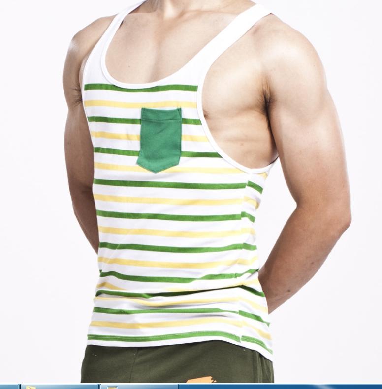 เสื้อกล้ามลายทาง : โทนสีเขียว