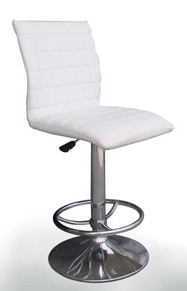 เก้าอี้บาร์ สีขาว มีโช๊คปรับระดับขึ้นลง สำหรับใช้ในออฟฟิศ