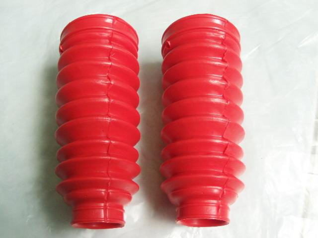 ยางหุ้มโช๊ค ชาลี CF50 CF70 สีแดง เทียม งานใหม่