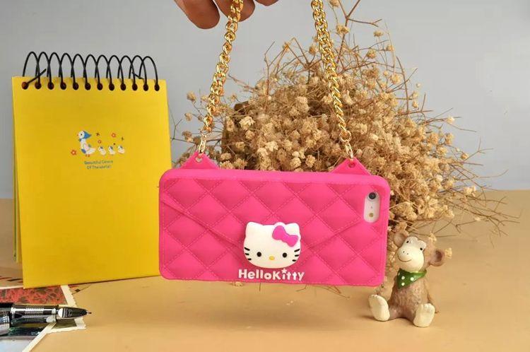เคสไอโฟน 6 เคสIphone6 เคสคิตตี้ มีสายสะพายได้ น่ารักมาก สีชมพู