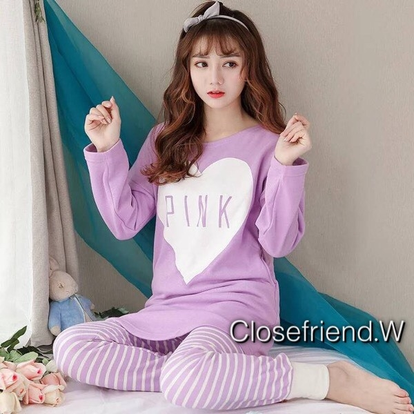 เสื้อผ้าเกาหลี พร้อมส่ง ชุดนอนเสื้อกันหนาว