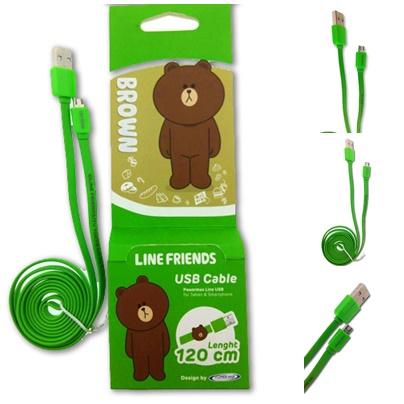 Powermax สายชาร์จ Line USB สำหรับ Micro USB สีเขียว