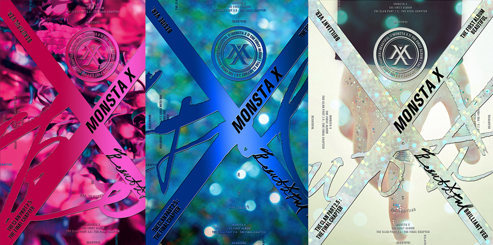[Pre] Monsta X : 1st Album - BEAUTIFUL (Beautiful+Brilliant+Beside - Set Ver.) +Poster