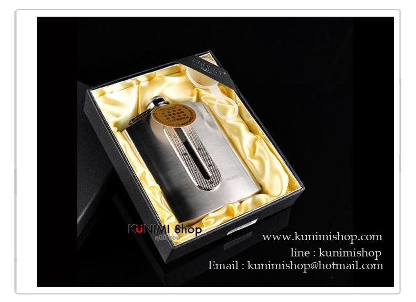 รหัสสินค้า K015N -------------------------------------------------------------------- กระป๋องใส่เหล้าและเครื่องดื่ม ขนาด 7 Oz *รุ่นนี้งานอย่างดี เกรดพรีเมียม เนื้อสแตนเลสหนา ขัดเงาวาว บรรจุในกล่องสวยงาม กระป๋อง ขวด ใส่เหล้า ใส่เครื่องดื่ม ทำจาก สแตนเลส Stainless Steel ไม่เป็นสนิม -------------------------------------------------------------------- ขนาดความจุ 7 ออนซ์ (210 ซีซี ) กว้าง : 9.2 ซม.x สูง(ถึงฝา) 12 ซม.