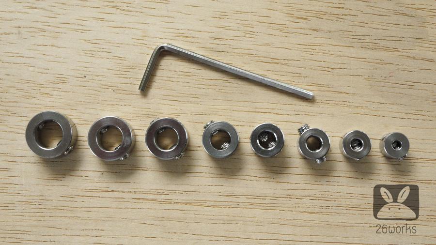 แหวนกำหนดระยะเจาะ ชุด 8 ขนาด Stainless