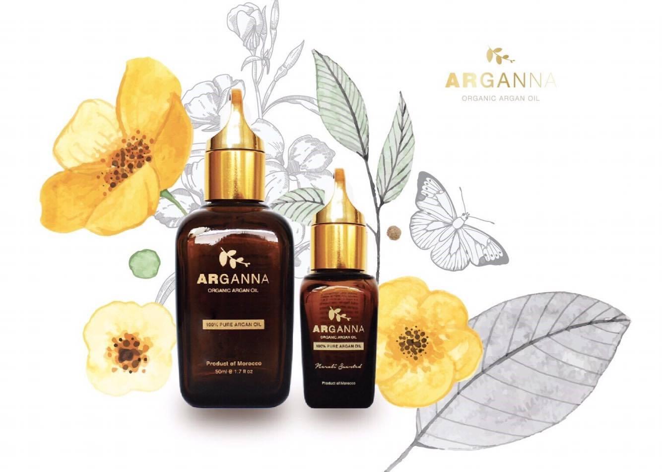 ARGANNA - Argan oil อาร์แกนออยล์บริสุทธิ์ลดการอักเสบของสิวและผิวหนัง ลดรอยแผลเป็น รอยดำจากสิว