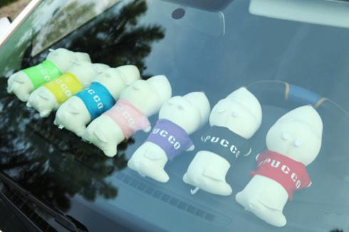 ตุ๊กตาน้องหมา ช่วยดูดกลิ่นอับในรถยนต์ น่ารัก ประดับตกแต่งในรถยนต์