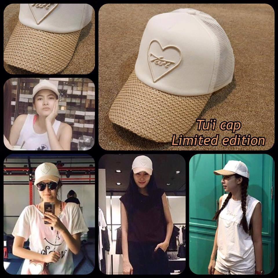 หมดค่ะ:หมวกcap แบรนด์Tu'i รุ่นนี้เป็นรุ่น limited หน้าหมวกปักนูนหัวใจ ปีกหมวกเป๊ะตามต้นแบบ แบบคุณมาร์กี้ คุณจอย คุณอั้ม คุณปอยใส่ค่ะ rare items สาวๆต้องมี ด้านหลังปรับขนาดได้