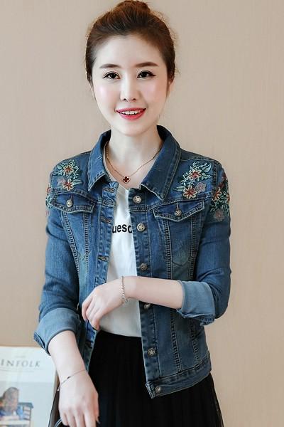 (พร้อมส่ง) เสื้อแจ็คเก็ตยีนส์ เสื้อแจ็คเก็ตยีนส์ดีไซน์เก๋ แจ็คเก็ตยีนส์ แฟชั่นมาใหม่สไตล์เกาหลี