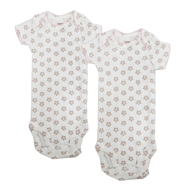 บอดี้สูท Carter's แขนสั้น 2 ตัว Newborn