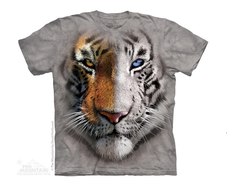 The Mountain Big Face Split Tiger T-Shirt