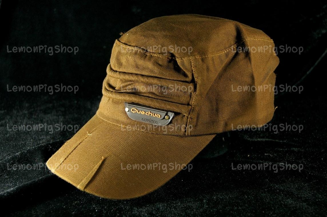 หมวก Cap สีน้ำตาล ทรงหัวตัด เท่ห์มากๆ