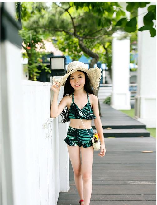 ชุดว่ายน้ำเด็กผู้หญิง เสื้อแขนยาว