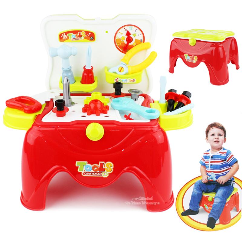 ชุดเก้าอี้เครื่องมือช่างพกพา Super Tools Play Set 28 ชิ้น