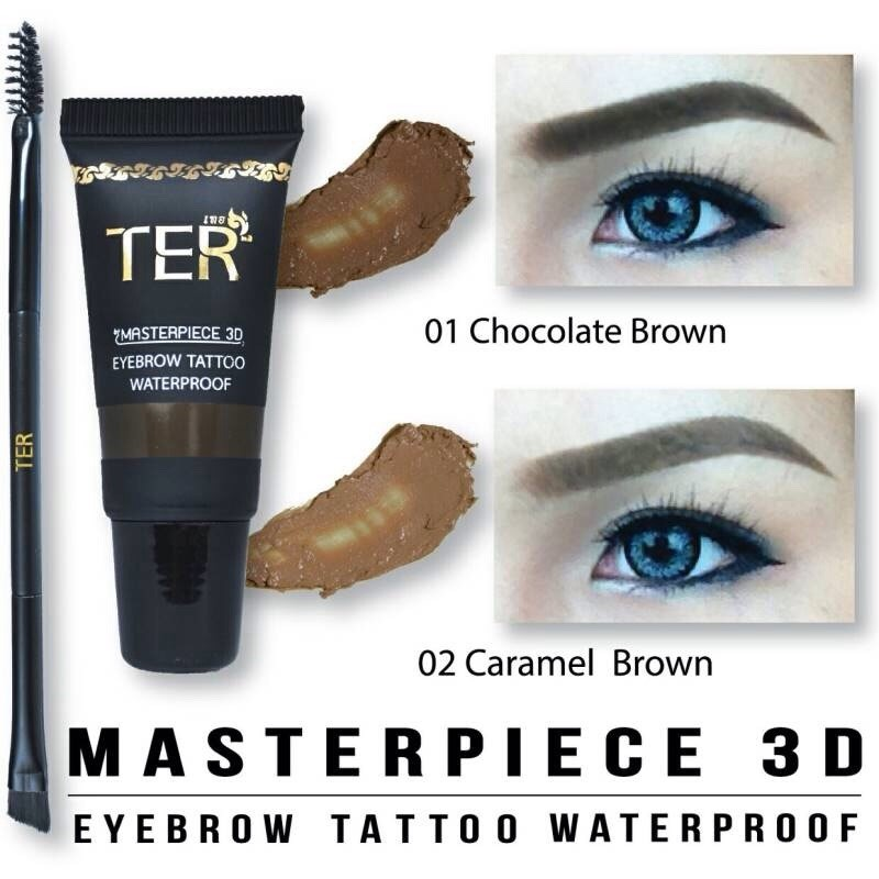 TER Masterpiece 3D Eyebrow Tattoo Waterproof สี 01 Chocolate Brown