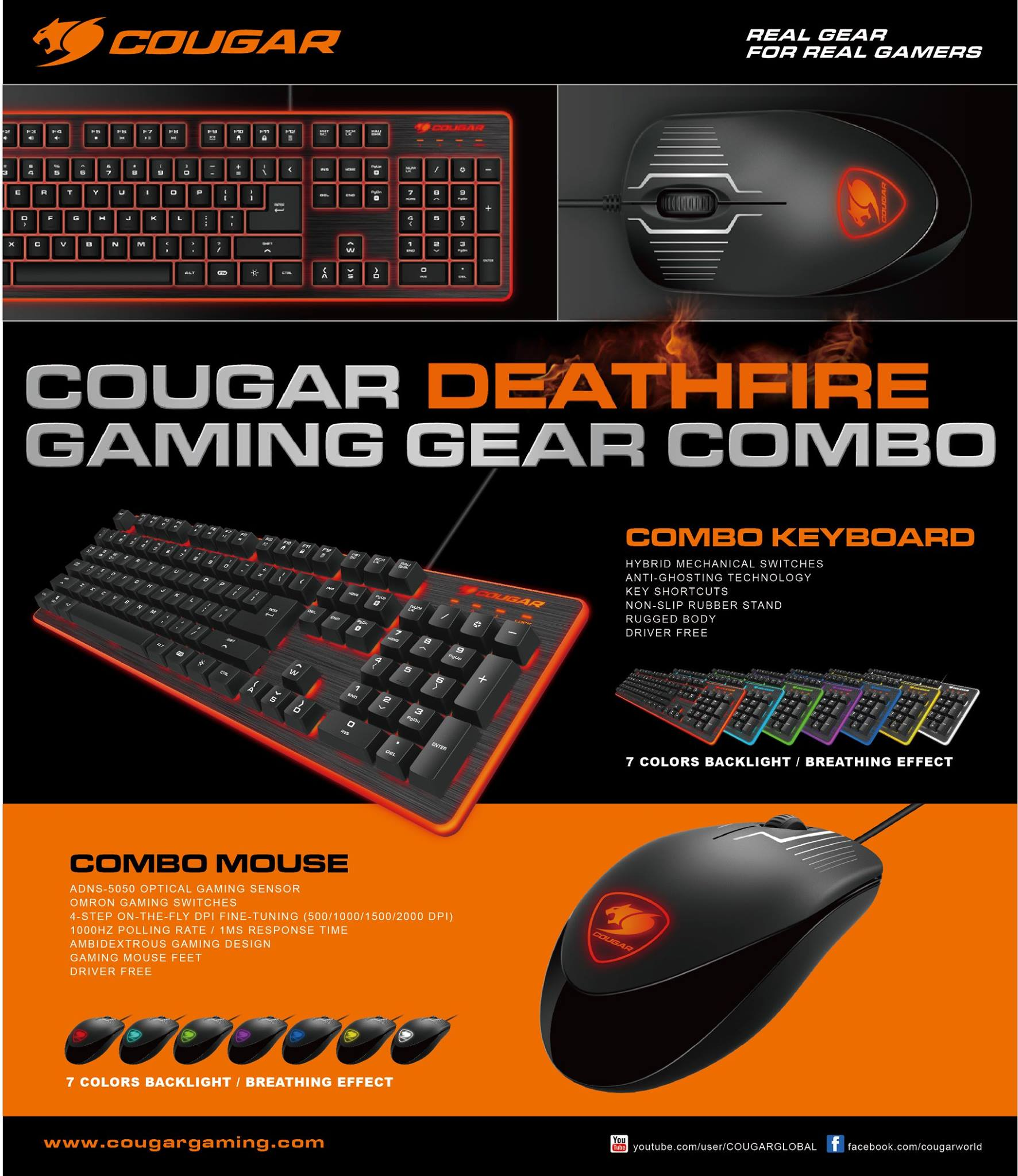 Cougar DEATHFIRE Gaming Keyboard