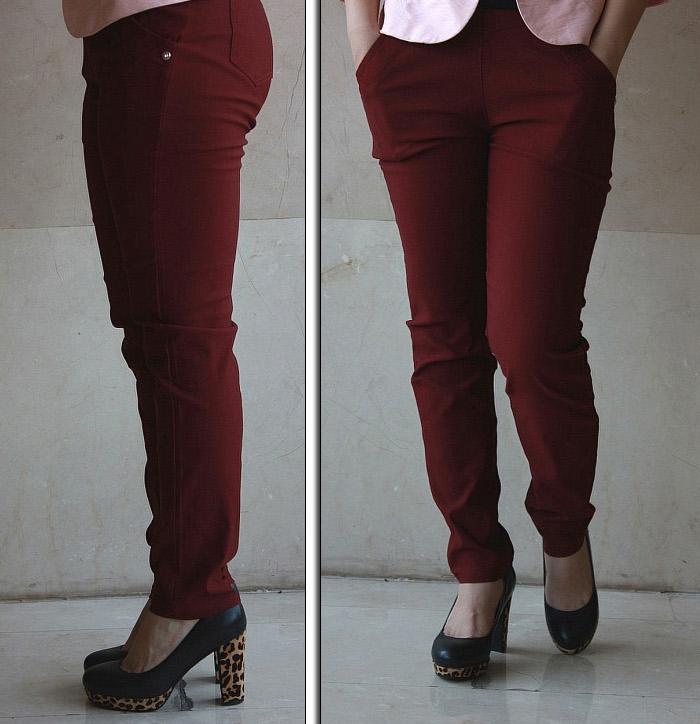 Pre Order - กางเกงขายาว-สกินนี่แฟชั่นคนอ้วน ไซส์ใหญ่ ทรงสวยมาก ดูเพรียว สี : สีเขียว / สีน้ำเงิน / สีดำ / สีแดง