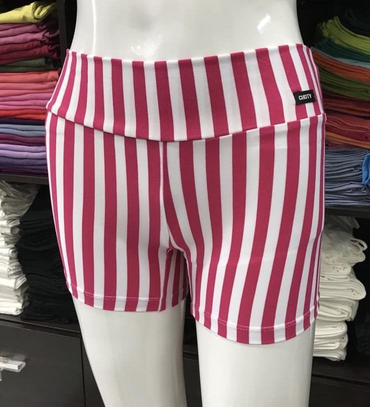 ซับในกางเกงขาสั้น ลายริ้วสีชมพูบานเย็น/ขาว