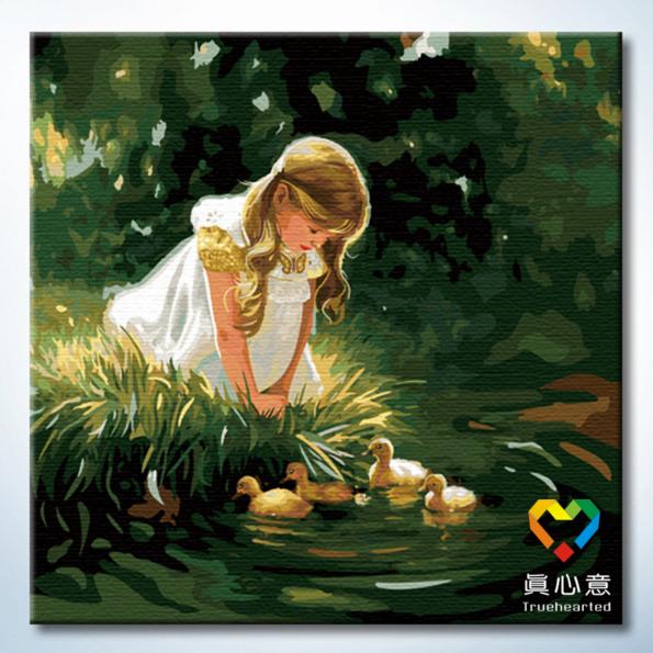 รหัส DH6060006 ภาพระบายสีตามตัวเลข Paint by Number แบบ Childhood ขนาด60x60cm/พร้อมส่ง