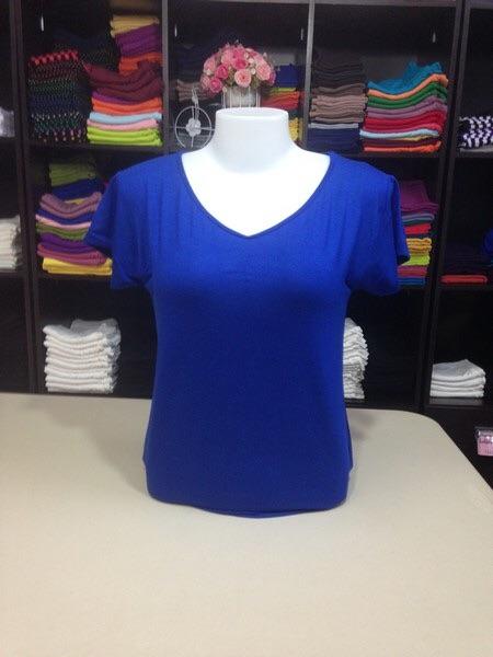 """เสื้อยืด size""""L"""" สีน้ำเงิน"""