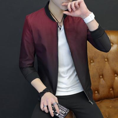 Pre Order เสื้อแจ็ตเก็ตแฟชั่นเกาหลีผู้ชาย แขนยาว แนวเบสบอลไล่โทนสี มี 4 สี