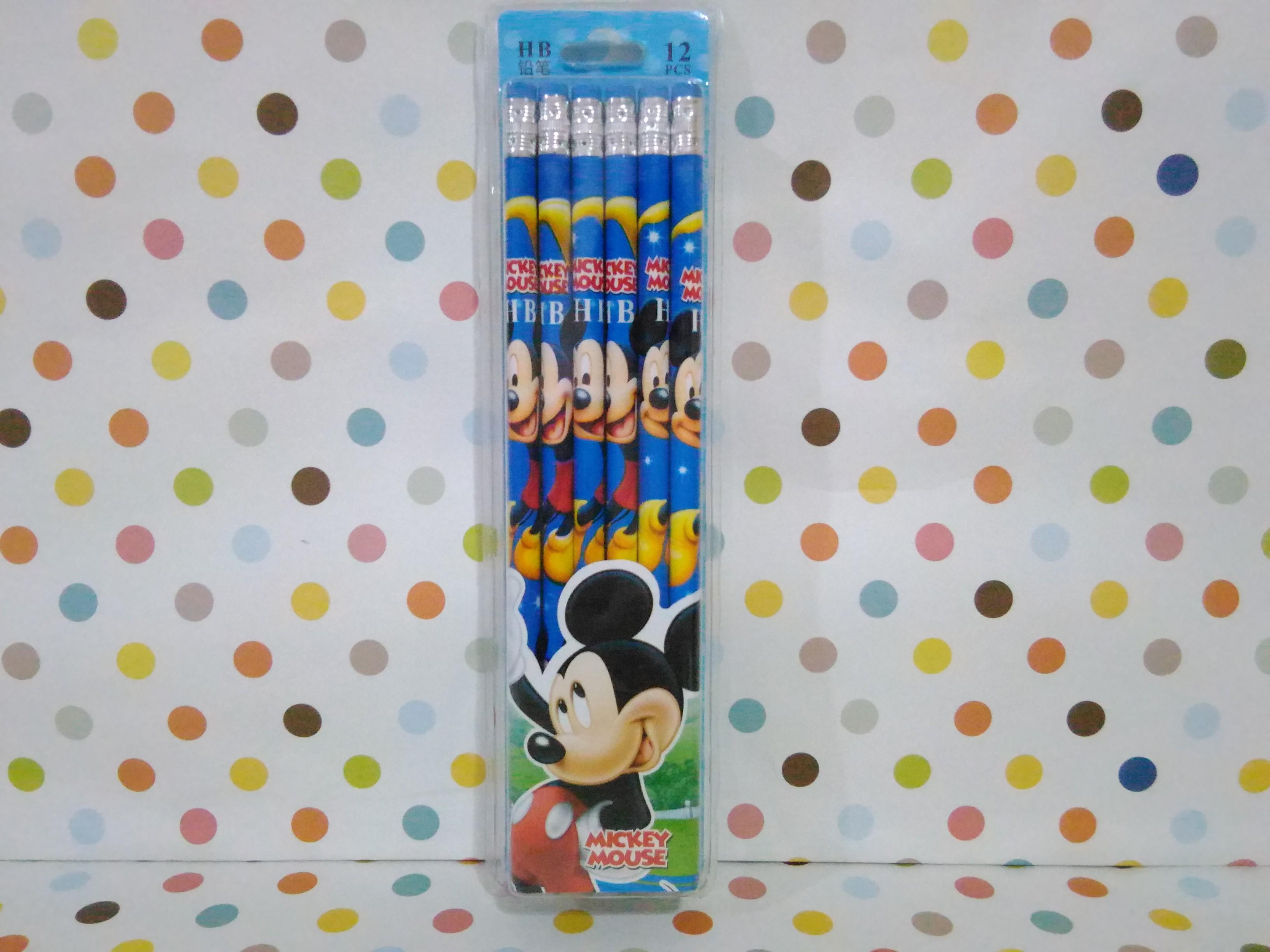 ดินสอ HB มิกกี้เม้าส์ Mickey Mouse แพ็ค 12 แท่ง