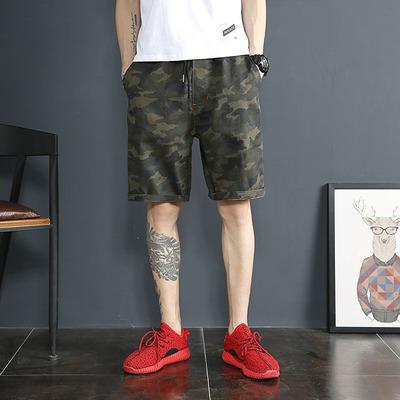 กางเกงขาสั้นเกาหลี แนวลำลอง เอวยาวยืด มี2สี