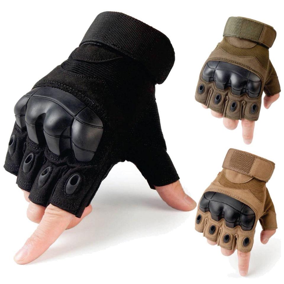 ถุงมือครึ่งนิ้ว New Oakley (ดำ เขียว ทราย)
