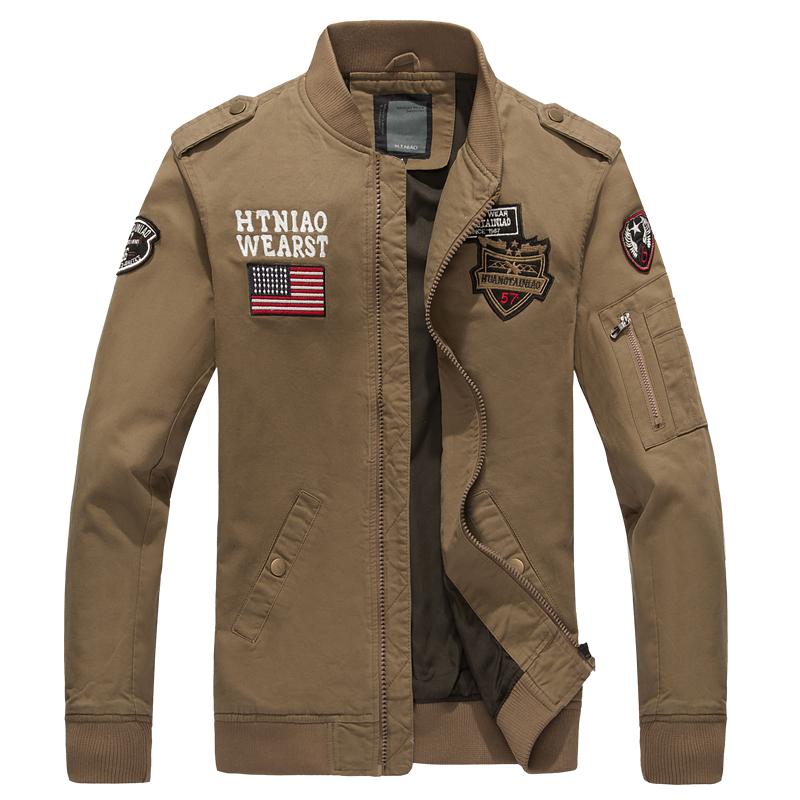 Pre Order เสื้อแจ็คเก็ตแฟชั่นแนวกองทัพอากาศ แขนยาวคอตั้ง แต่งลายเท่ห์ๆ มี3สี