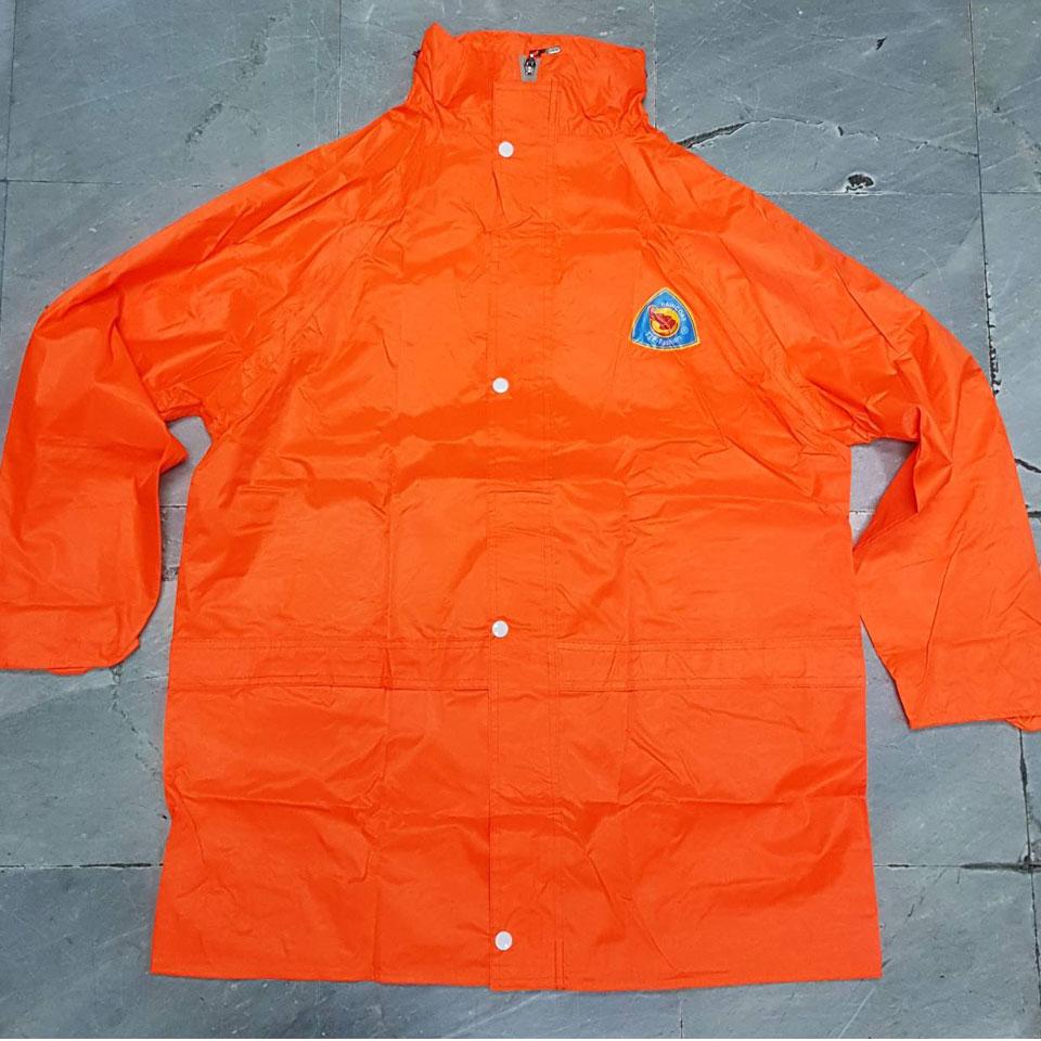 ชุดกันฝน เสื้อ+กางเกง มีแถบสะท้อนแสงหลัง