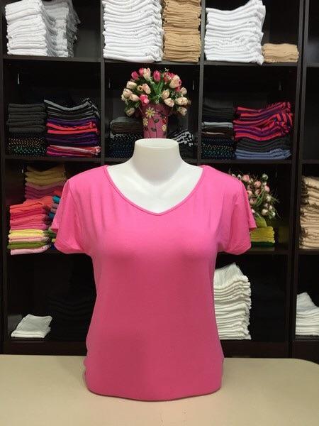 """เสื้อยืด size""""L"""" สีชมพูหวาน"""