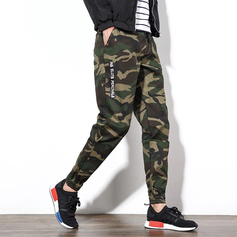 Pre Order กางเกงขายาวลายพราง ขาจั๊ม แฟชั่นเกาหลี ดีไซน์อินเทรนด์