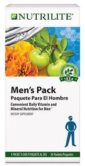 Nutrilite Men Pack ชุดอาหารเสริมสำหรับผู้ชาย ขนาด 1 เดือน Amway USA