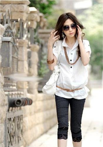 fashion เสื้อเชิ้ตแฟชั่น แขนสั้น ใส่เที่ยว สีขาว กระดุมหน้า สามารถใส่ทำงานได้ สุภาพ เรียบร้อย เท่ห์ น่ารักมากๆ ครับ + เข็มขัด (พร้อมส่่ง)
