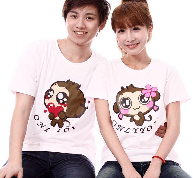 เสื้อยืดคู่รัก ลิงตาหวาน