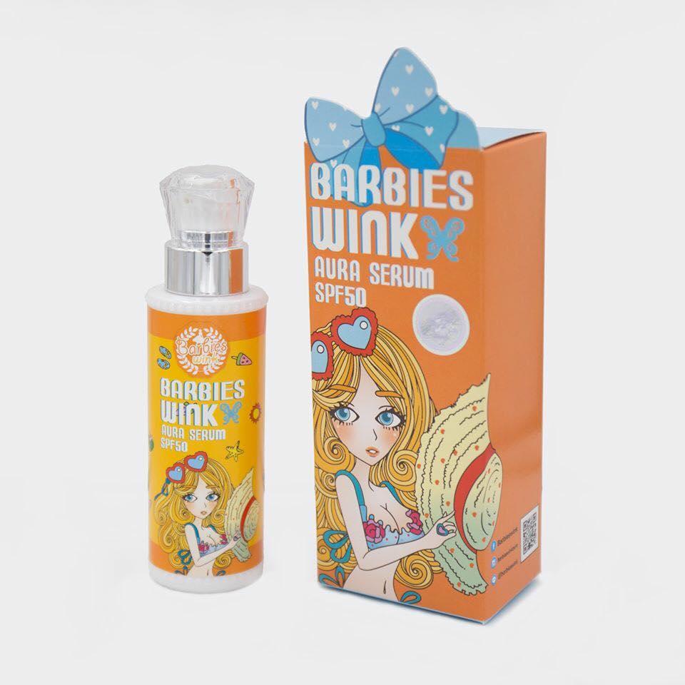 Barbies Wink Aura Serum 100 ml. กันแดดบาร์บี้วิ้งค์ ขาวออร่า แบบผิวจริง