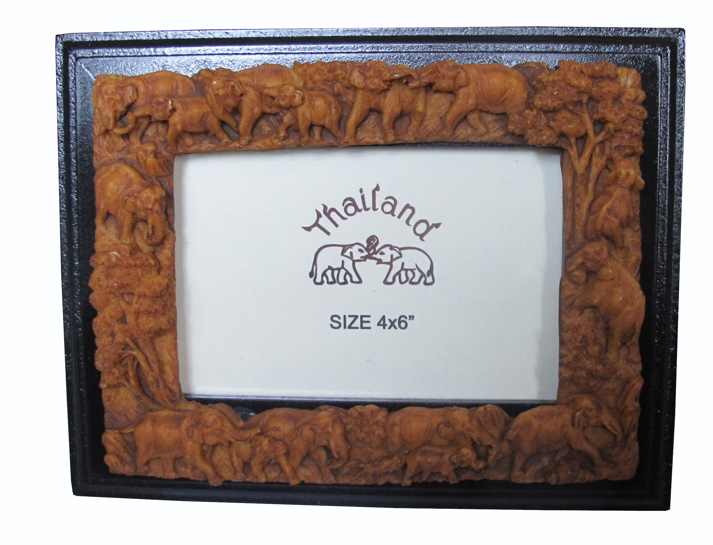 กรอบรูป ลวดลายช้างไทย ทำจากเรซิ่น ลวดลายสวยงาม เป็นสินค้าที่เรอค้ามาก