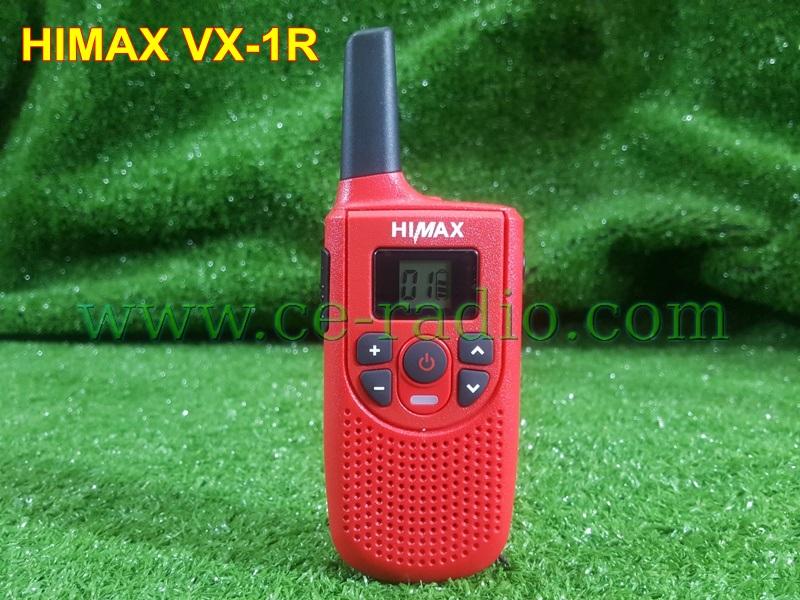 HIMAX VX-1R มี ปท. วิทยุสื่อสารเครื่องแดงยกเว้นใบอนุญาติ