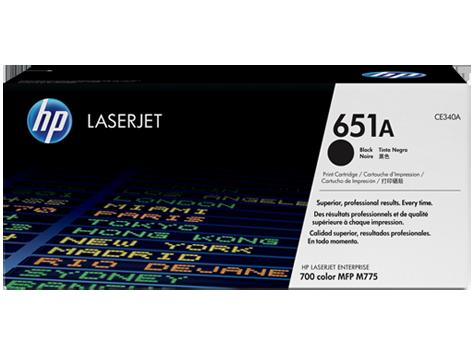HP 651A ตลับหมึกโทนเนอร์ สีดำ Black Original Toner Cartridge (CE340A)