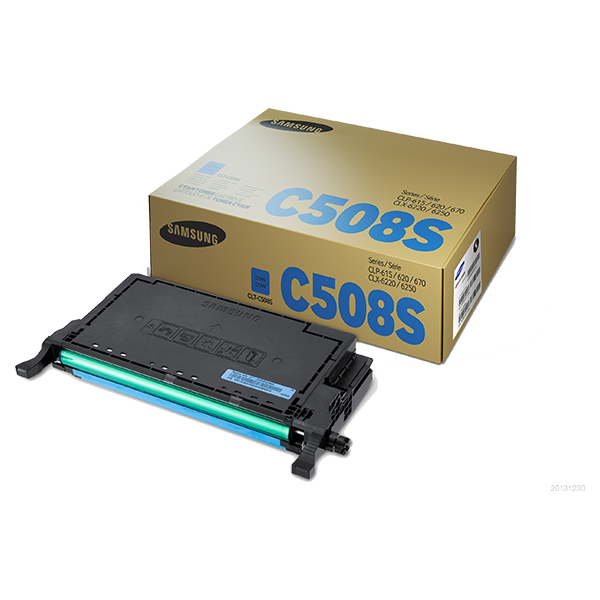 Samsung CLT-C508S ตลับหมึกโทนเนอร์ สีฟ้า ของแท้ Cyan Original Toner Cartridge (SU070A)