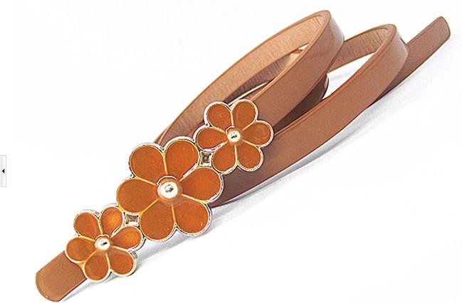 Leather belt - Camel