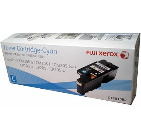 Fuji Xerox CT201592 ตลับหมึกโทนเนอร์ สีฟ้า ของแท้ Cyan Original Toner Cartridge