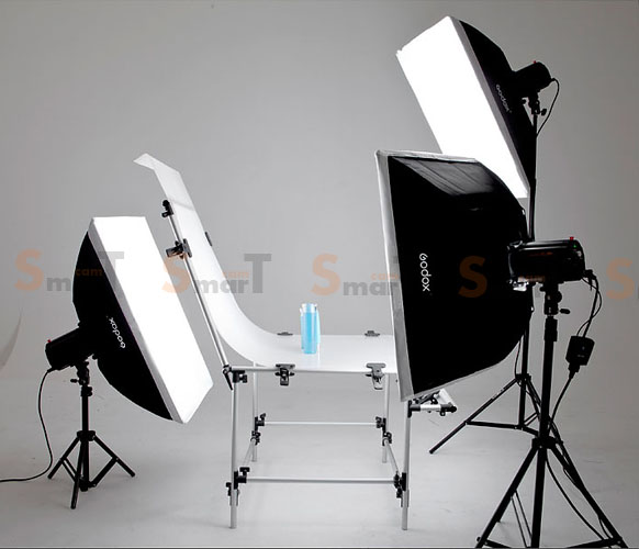 Godox 160W x 3set studio flash suit & shooting table lamp