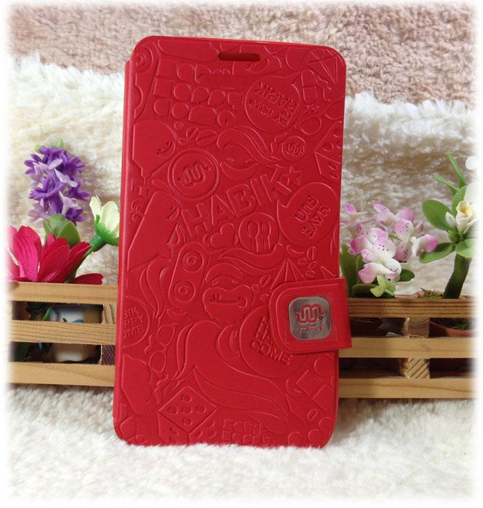 เคส Samsung note 3: MFIT diary case เคสหนังคุณภาพดี สีแดง