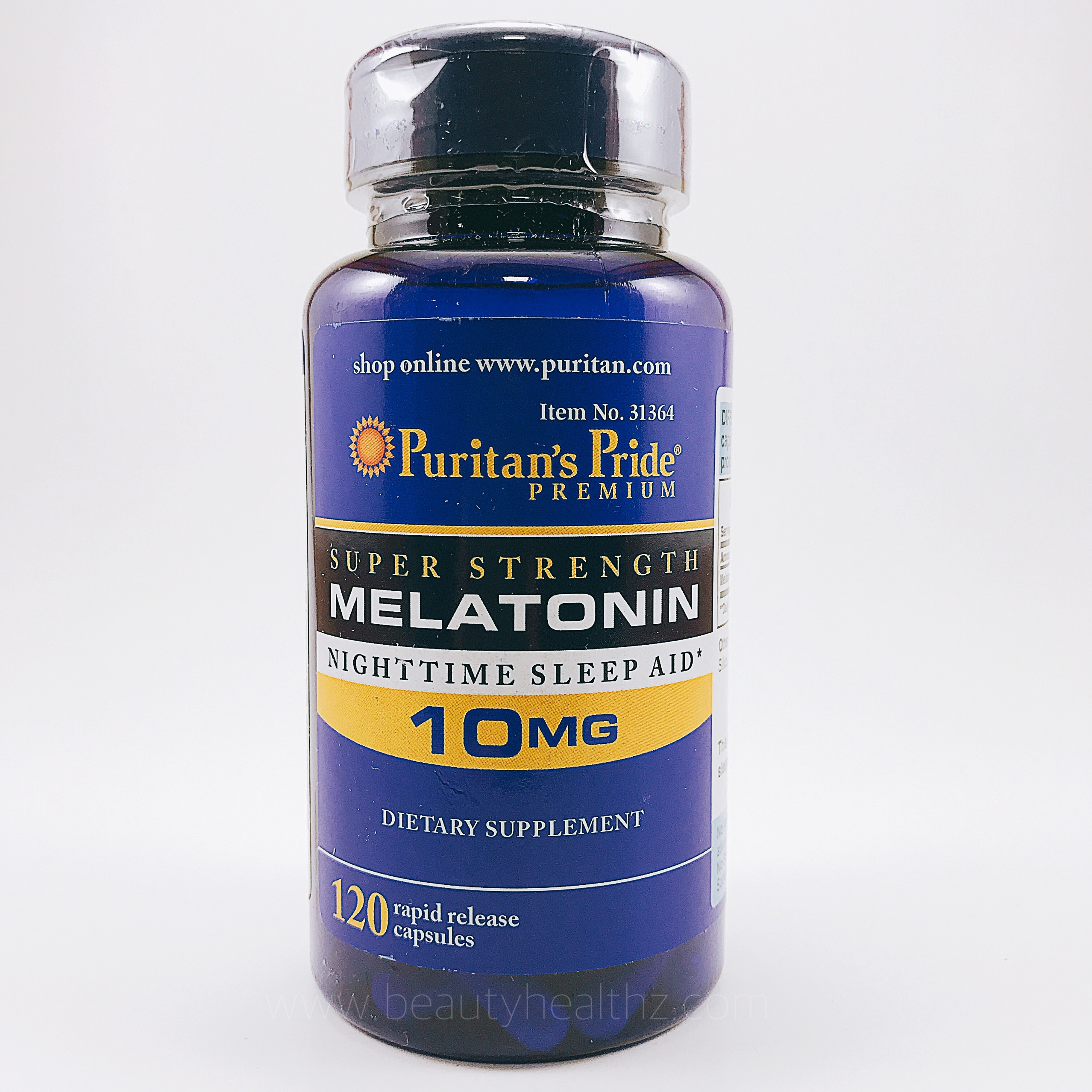 Puritan's Pride, Melatonin 10 mg 120 Capsules